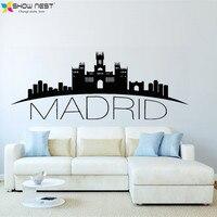 Spain Madrid Skyline Wall Decal City Silhouette Vinyl Stickers Living Room Bedroom Kitchen Wall Art Murals