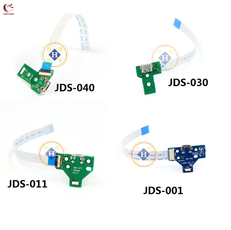 HOTHINK 40set/lot JDS-001 JDS-011 JDS-030 JDS-040 USB Charging Port Board with cable For PS4 PRO Slim Controller Repair Parts