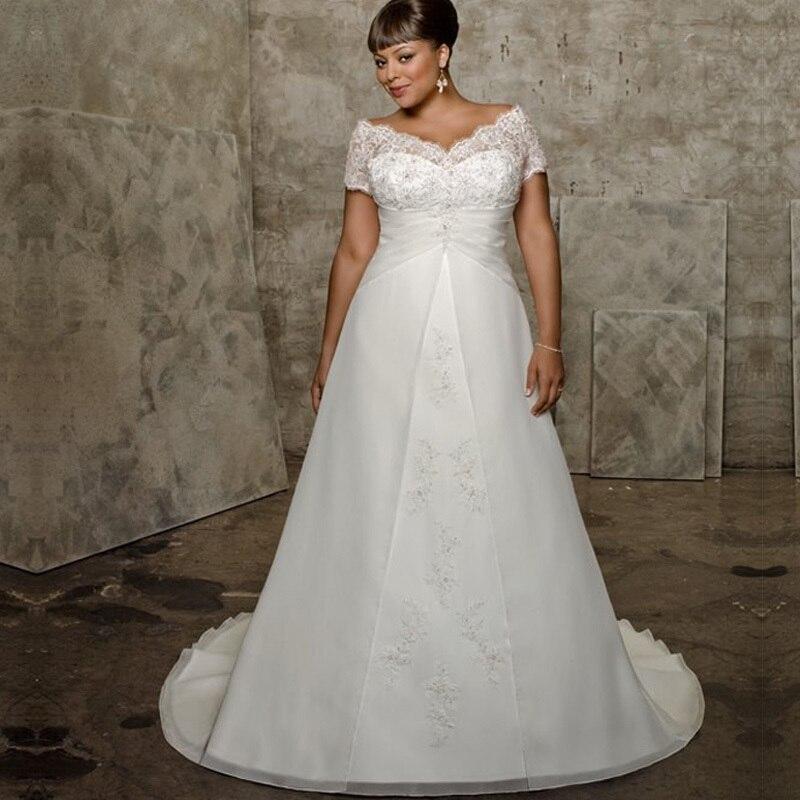 Elegant Lace Sleeve Short Wedding Dresses 2016 Scoop Neck: 2016 Ball Gown V Neck Short Sleeve Elegant Vestidos De