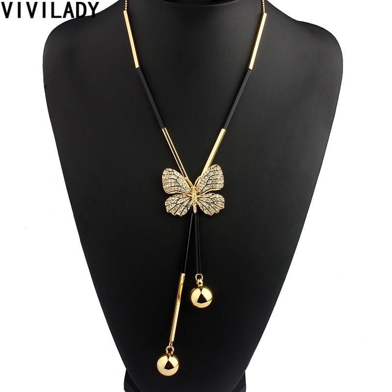 VIVILADY Elegant Butterfly Long Beaded Chain Tassel s