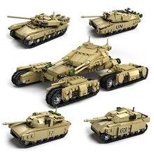 1242pcs Army Model Tanks 4 In 1 Assemblage Building Blocks Set Compatible Legoed military weapon tank DIY Bricks Children Toys