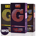 Davidsource g preservativo 10 peças/lote cravado saca-rolhas contracepção preservativos para homens com tesão adulto produto frete grátis
