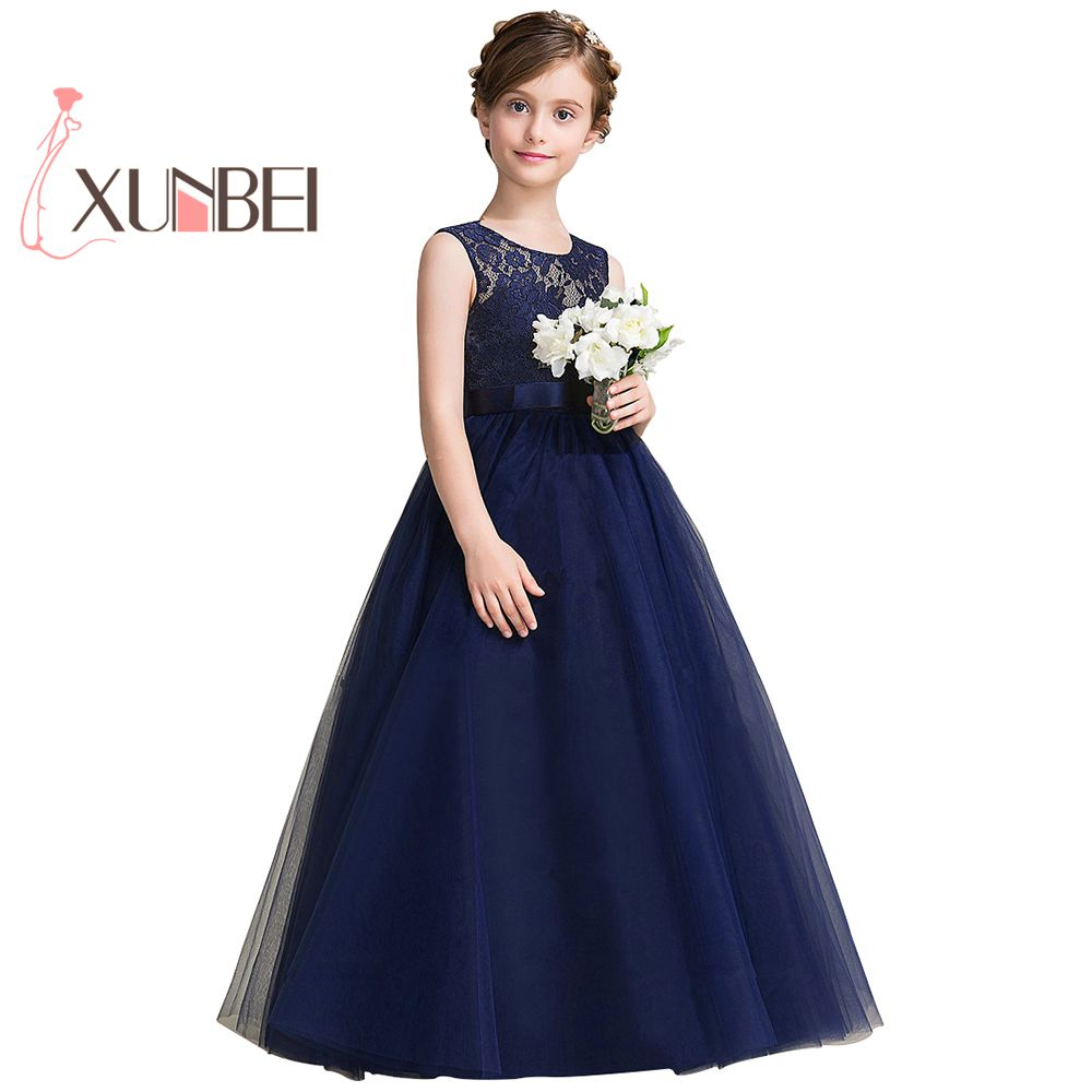 Navy blue petites filles robes princess lace flower girl dresses navy blue petites filles robes princess lace flower girl dresses 2017 tulle girls peagant dresses first izmirmasajfo