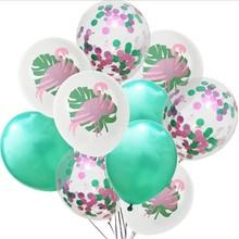 12 inch 2.8g flamingo latex balloon coffetti ballons 3colors Confetti Balloons Clear Latex Balloon for animal globos unicornio