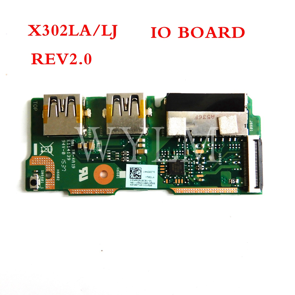 X302LA/LJ IO_board REV 2.0 for <font><b>ASUS</b></font> X302LA/LJ X302LJ <font><b>X302</b></font> X302L USB BOARD IO board Test well image