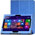 Para Lenovo MIIX 300 10.1 pulgadas Tablet PC Personalizada Patrón PU Estuche de Cuero de Seda de Lujo