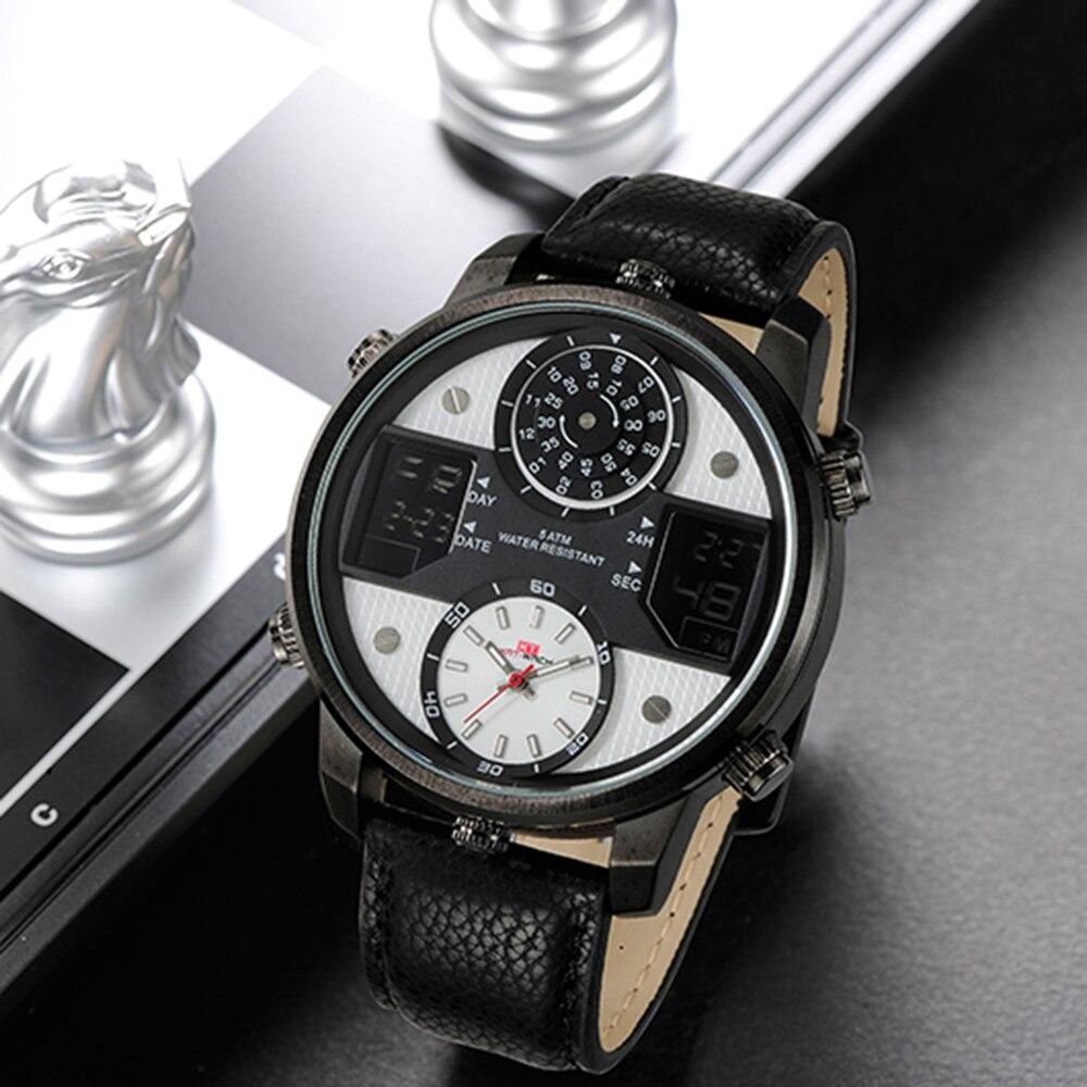 2019 спортивные часы мужские часы Топ бренд Роскошные Кварцевые часы мужские модные повседневные светящиеся водонепроницаемые часы Relogio ... - 4