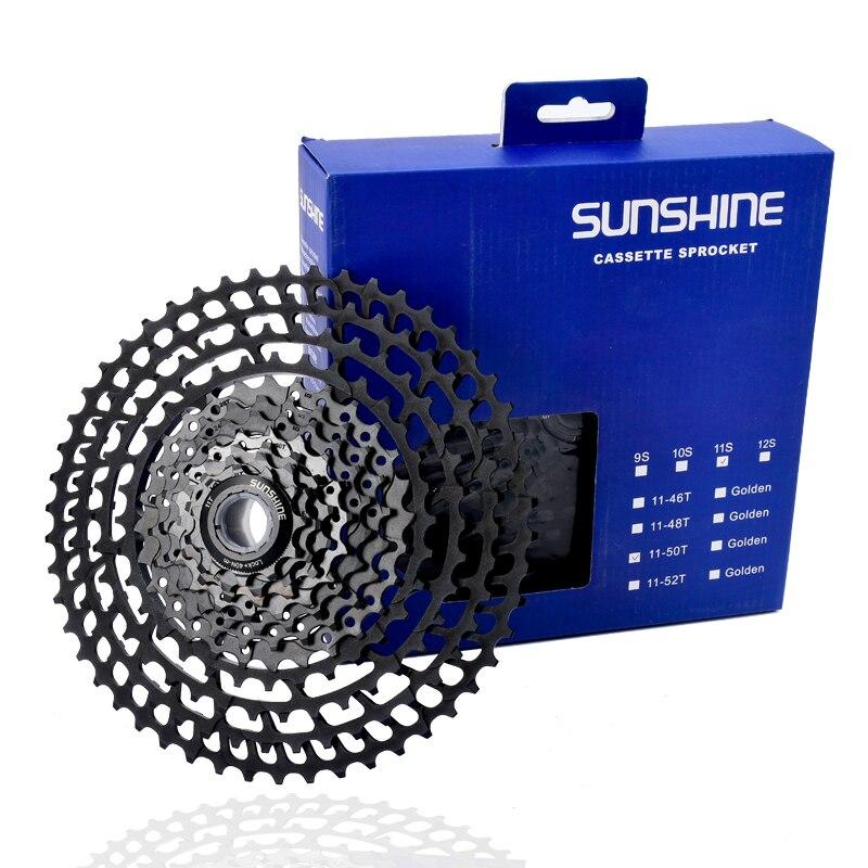 SUNSHINE 11 S VTT volant d'inertie de bicyclette volant d'inertie 11 S 11-50 T ultra léger en alliage d'aluminium