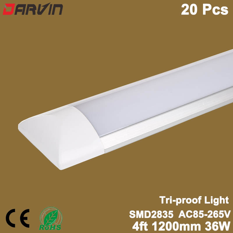 Светодио дный линейный свет tri доказательство чистой очистки Light Tube 4ft 36 Вт 1200 мм светодио дный без каблука свет софитов светодио дный трубки