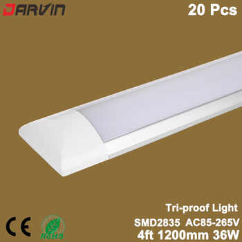 Led Linear Light Tri-proof Clean Purification Tube Light 4ft 36W 1200mm Led Flat Batten Light Led Tube Light Lamp - Category 🛒 Lights & Lighting