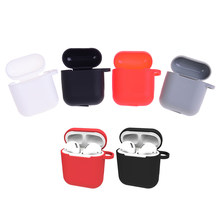 Silicone Shock Proof Protector Sleeve For Apple AirPods Case Skin Cover for AirPods True Wireless Earphone box accessories(China)