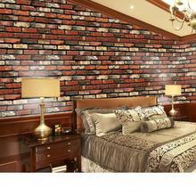 3d Natural Brick Wallpaper Self-adhesive Stickers Home Wall Decor Wallpapers diy PVC Papel de Pared Classic Wall Paper ZE083