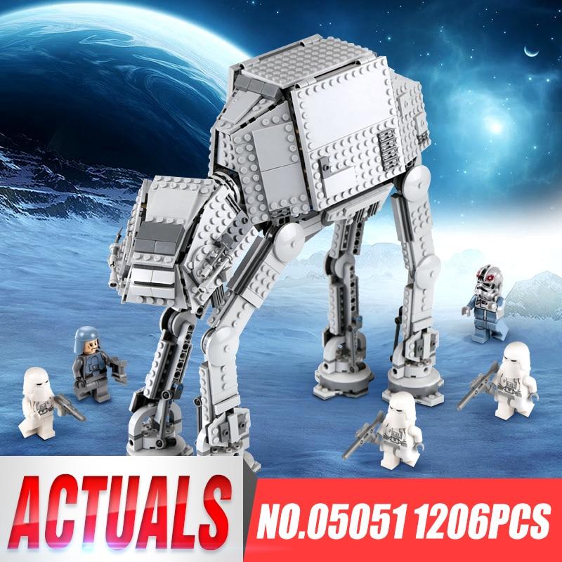 05051 05130 05050 Star Force War Toys Awaken The 75054 AT AT Transportation Armored Robot Building