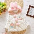 El otoño y el invierno femenina bebé niño infantil 0-1 2 3---4 ropa de felpa wadded chaqueta, además de terciopelo engrosamiento prendas de vestir exteriores