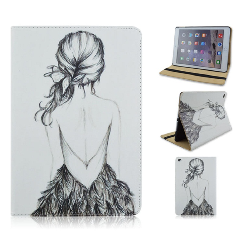PU and PC Material Diamante Support Protective Cover Case of White Girl for iPad Air 1 2 iPad 2017 rdr young adult dracula audio cd