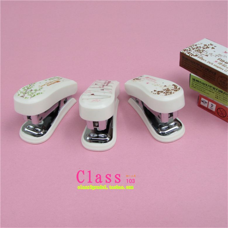 1PCS/LOT Wholesale mysterious garden 2138 mini stapler set of binding book binding machi ...