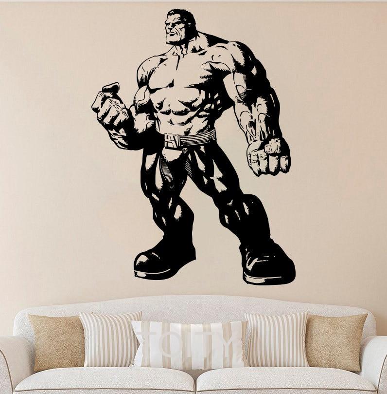 online get cheap hulk vinyl decal aliexpress com the incredible hulk fist punch boys wall sticker art decal