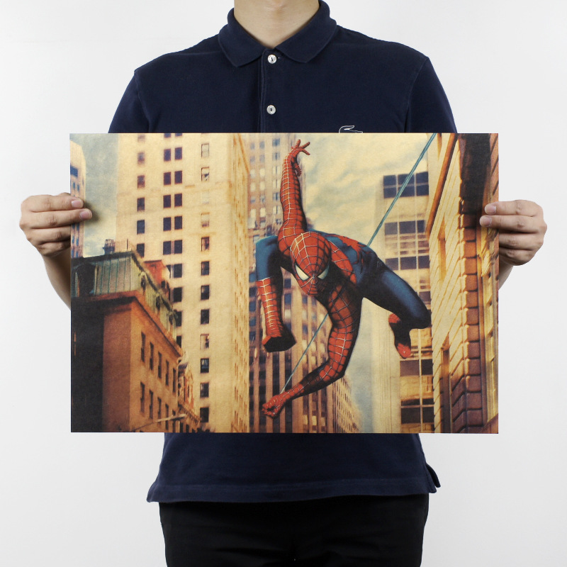 Free shipping,Peter Benjamin Parker/Spider-Man B classic movie/kraft paper/bar poster/Retro Poster/decorative painting 51x35.5cm