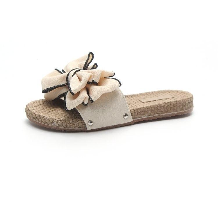 Для женщин слайд Лоферы без застежки с бантом обувь на плоской подошве в богемном стиле шлепанцы Тапочки модные Повседневное комфорт женск...