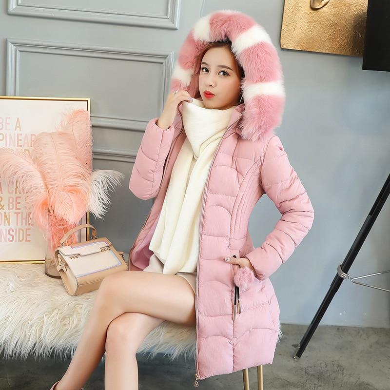 Épais Chaude Haute rose 2018 Manteaux De D'hiver Manteau corail Qualité Hiver Noir menthe Rouge Et Veste Chaud Femme New Femmes 0B0r1Pq