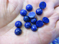 AA Grade 6pcs 4 5 6 8 10 12mm Natural Lapis Lazulie Gemstone Cabochon Round Blue