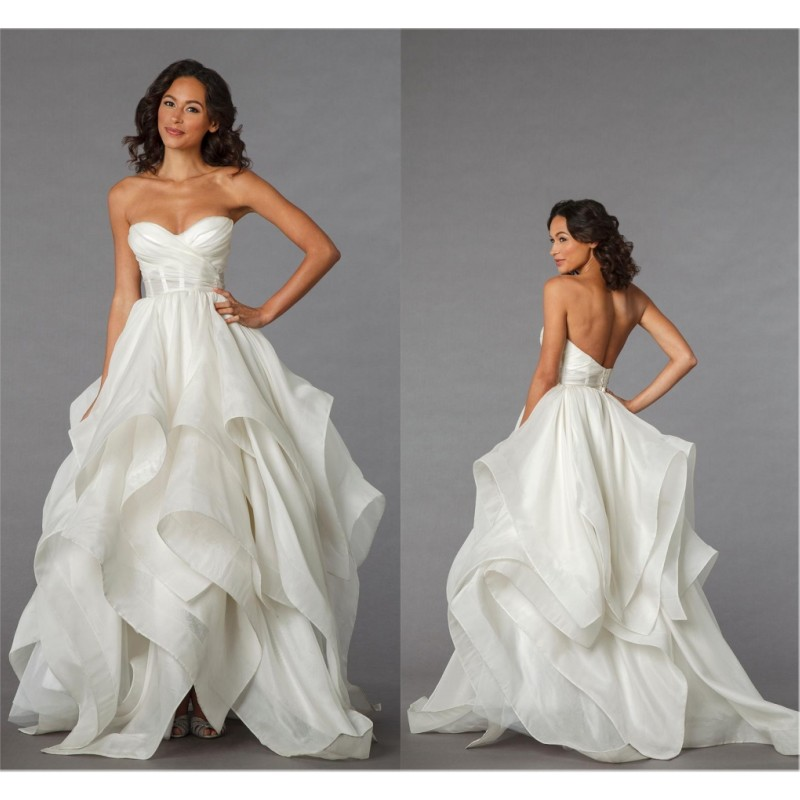 New arrival pnina tornai wedding dress a line backless for Cost of a wedding dress