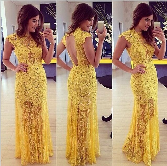 Yellow Long Evening Dresses