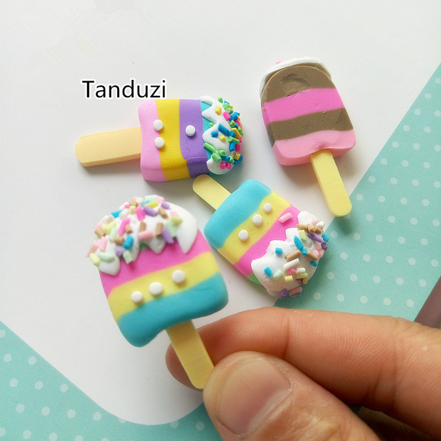 Tanduzi kawaii polymer clay popsicle fimo clay crafts - Idee pate fimo simple ...