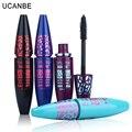 6 unids/lote ucanbe marca mascara maquillaje negro fibra de pestañas extensión de pestañas cosméticos de maquillaje de larga duración impermeable que se encrespa