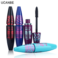 6pcs/lot Makeup Ucanbe Brand Mascara Black Long-Lasting Cosmetic Fiber Lashes Eyelash Extension Volume Makeup Waterproof Curling