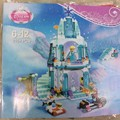 Girl Series Elsa's Sparkling Ice Castle Model Anna Elsa Queen Kristoff Olaf Building Blocks Toys SY373 Lele 79168 Jiego 301