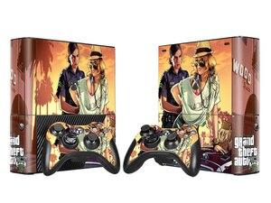 Image 3 - Grand Theft Auto 5 GTA 5 비닐 스킨 스티커 For Microsoft Xbox 360 E 슬림 콘솔 컨트롤러 Controle For x box 360 Slim E Decal