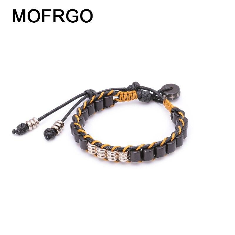 Купить плетеный браслет ручной работы для влюбленных из вощеной веревки