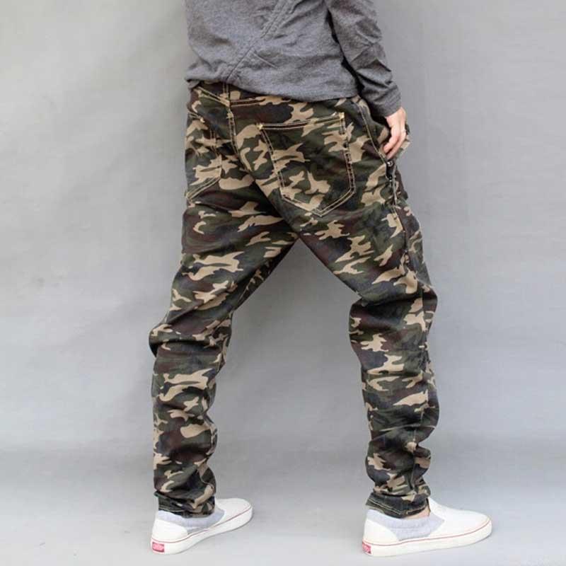 Mænds Militære Camouflage Harem Jeans Bomuld Plus Størrelse Hip - Herretøj - Foto 4