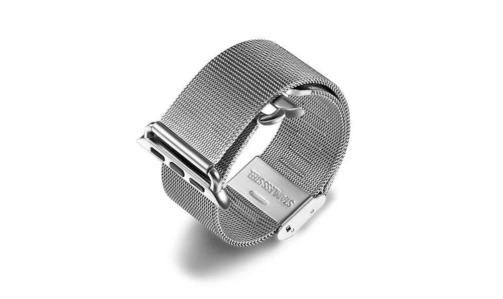 Types Of Watch Bands >> The Fine Type Watch Band For Apple Stainless Steel Mesh Loop