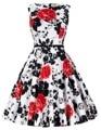 50 s do vintage vestidos sexy verão vestidos mulheres do partido vestidos túnica de algodão o-pescoço pin up rockabilly balanço plus size mulheres's dress