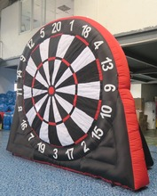 Free shipping,Good quality 4m high inflatable foot darts,dart game,giant inflatable football soccer dart board