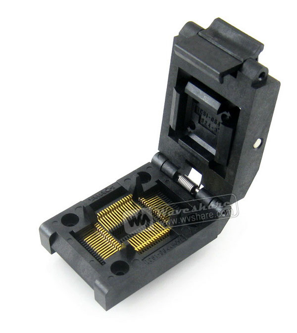 IC51 0644 824 3 Yamaichi IC Test Burn in Socket for QFP64 TQFP64 FQFP64 PQFP64 package
