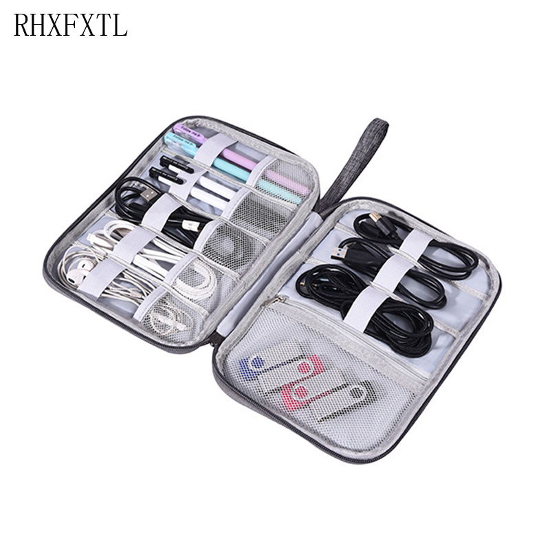 Travel Single Layers Organiser Bag Portable Digital Electronics Accessories Chargers Cable Data Line Sort Package Organiser Bag