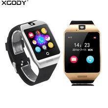a25606442b150 (Gemi US) XGODY Q18S Akıllı Watch Phone SIM Kart Uzaktan Kamera Spor Izci Spor  Saatler NFC Ile Apple Iphone için Smartwatch Android