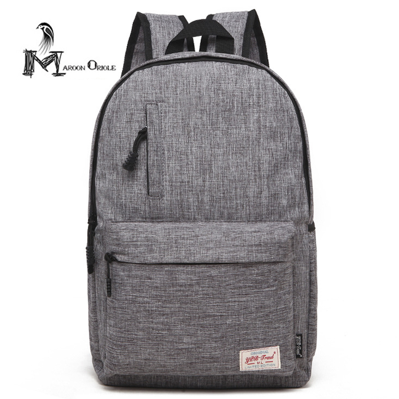 Classic solid color backpack university bag unisex simple backpack school bag for teenager high school backpack