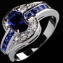 SIZE6-12 Beautiful pretty fashion Wedding ring Party White g