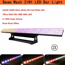 2Pcs/Lot LED Bar Light UV Color 12X3W Wall Wash Lights  For Stage Party Wedding Events Flood DJ Show