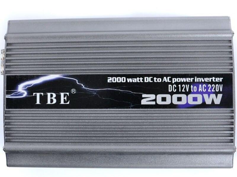 Tbe 2000w Dc 12v 24v 48v To Ac 220v 110v Compact Portable Auto Power Inverter Charger Converter
