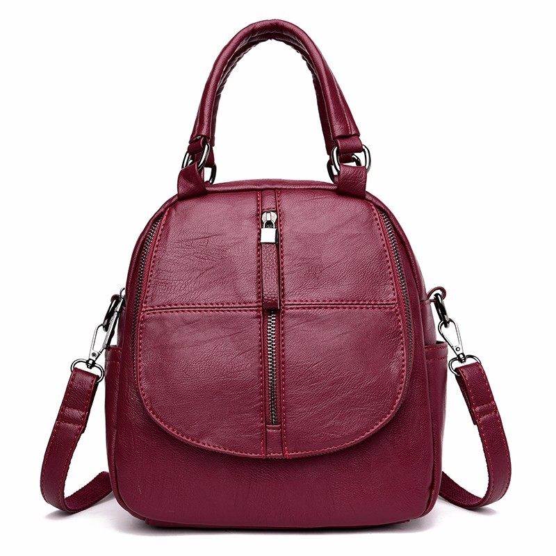 2019 Small Leather Backpacks For Girls Sac A Dos Multifunction Female Backpack High Quality Vintage Bagpack Ladies Mochilas New 2019 Small Leather Backpacks For Girls Sac A Dos Multifunction Female Backpack High Quality Vintage Bagpack Ladies Mochilas New