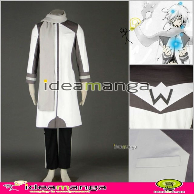 Manga Amime V+ VOCALOID KAITO style green and white version 5ve man's Cosplay Costume male halloween party dress Any Size
