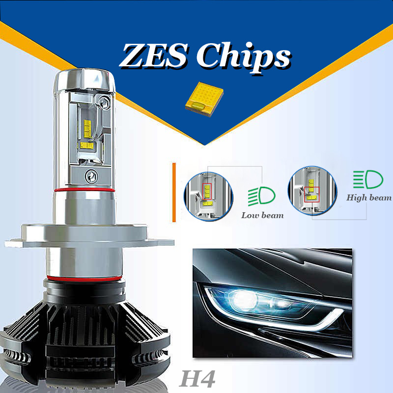 Xplus X3 high/low beam H4 H7/11 9005/6 HB3/4 Car LED Headlight Bulbs 50W 6000LMAll in one ZES Headlamp Fog Light Pakistan