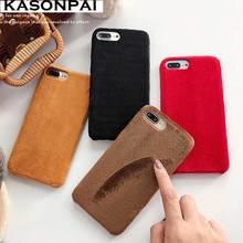 Funda de teléfono de felpa de piel de Villus para iPhone XS Max XR X funda suave de piel caliente de invierno iPhone 8 7 6 6 s más caso