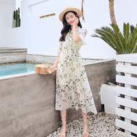 Zanzea Limited Short Dress Vadim Floral Chiffon Dress Posed Pleated 2019 New Women's Temperament Cultivate Morality In The Long