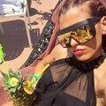Ofir 2017 moda grande quadro óculos de sol grande quadro anti-areia férias óculos de sol óculos de personalidade siamese xft-45